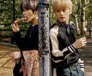mark, nct, and taeyong image
