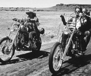 Easy Rider, biker, and black and white image
