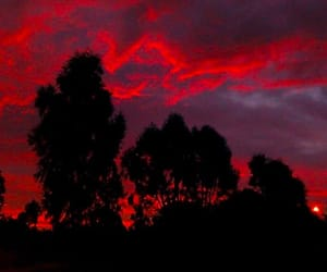 red, sky, and aesthetic image