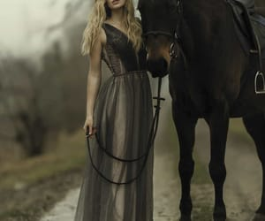 horse, photography, and woman image