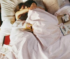 bed, couple, and morning image