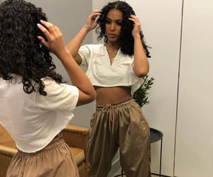 curls, female, and outfit image