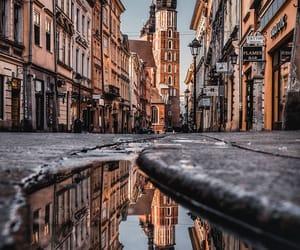 Krakow and reflection image