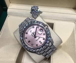 diamond, luxury, and rolex image