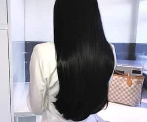 hair and black image