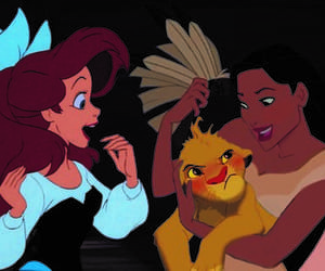 ariel, belle, and cartoons image