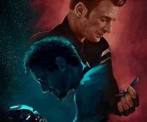 Avengers, captain america, and iron man image