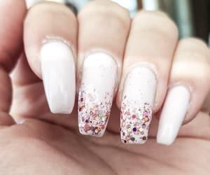 glitter, nails, and nailart image