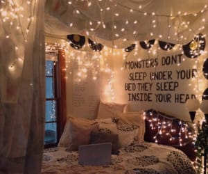 lights, aesthetic, and bedroom image