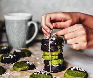 christmas, dark chocolate, and dessert image