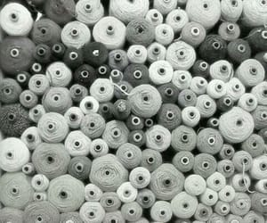 spools, cotton, and grey image