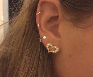 girl, aesthetic, and earrings image