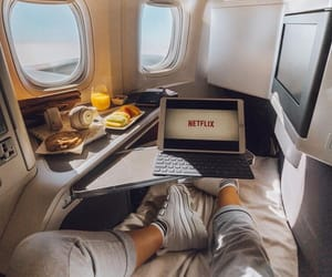 netflix, travel, and plane image