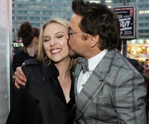robert downey jr, Scarlett Johansson, and Marvel image