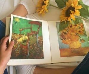 aesthetic, van gogh, and watercolor image