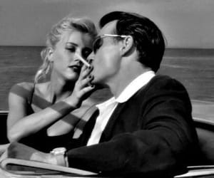 couple, johnny depp, and amber heard image