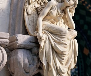 angel, art, and statue image