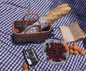 baguette, bread, and blanket image