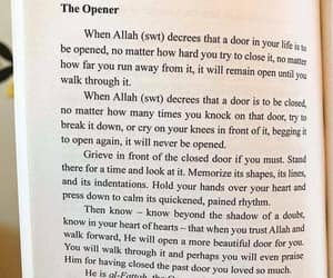 allah, destiny, and door image
