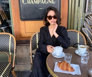 coffee, croissant, and france image