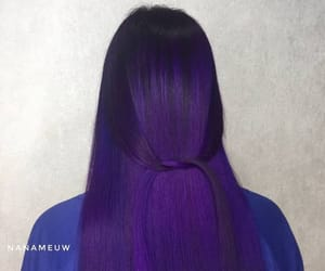purplehair, coloredhair, and rainbowhair image