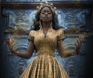 dress, beauty, and black woman image