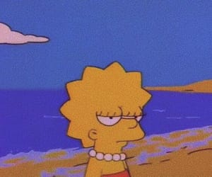 grunge, lisa, and the simpsons image