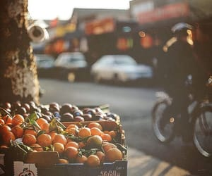 feed, girl, and fruit image