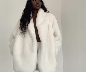 fashion, fur coat, and fur vest image