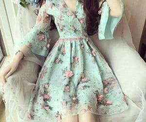 background, dress, and moda image