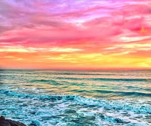 colors, ocean, and photography image
