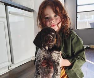 animal, girl, and dog image