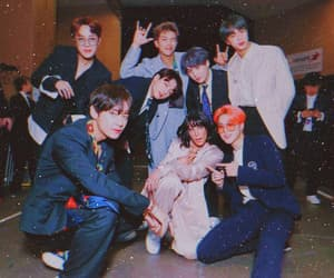 bts, halsey, and jhope image