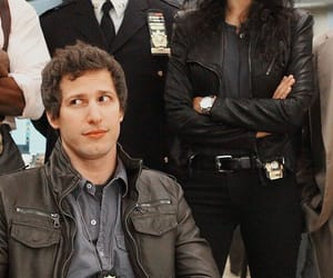 brooklyn nine nine, jake peralta, and gina linetti image