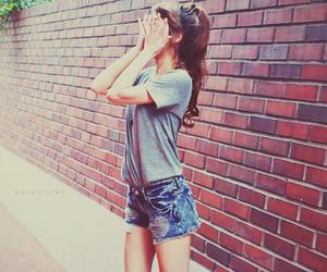 girl and shorts image