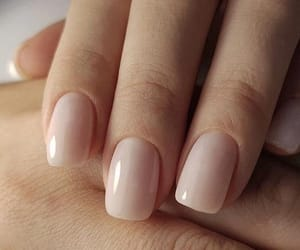 girl, pink, and nails image