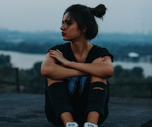 girl, sad, and style image
