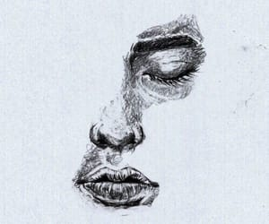 art, girl, and pencil art image