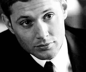 black and white, gif, and Jensen Ackles image