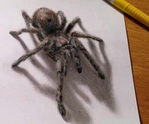 3d, spider, and art image