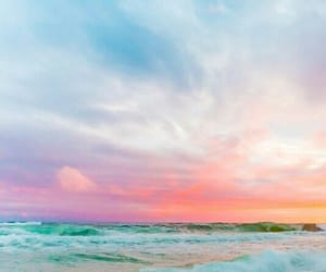 sky, sea, and colors image