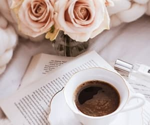 books, coffee, and cup of coffee image