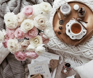 beautiful life, books, and cup of tea image