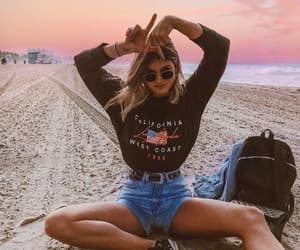 beach, girl, and fashion image