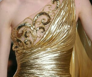 evening dress, fashion, and gold aesthetics image