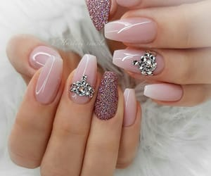 girl, glitter, and nail art image
