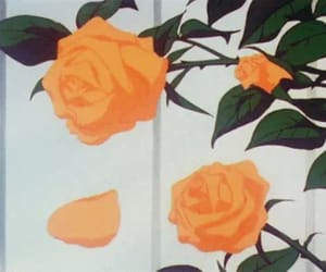 gif, rose, and flowers image