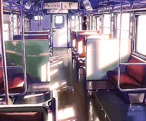 gif, train, and anime boy image