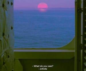 infinite, sea, and sunset image
