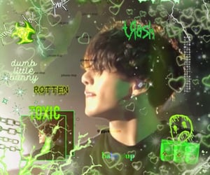 aesthetic, green, and jk image